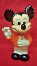 """Vintage Old Rare Mickey Mouse Squeeze Squeak Toy Walt Disney 1978 7 1/4"""""""