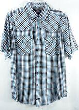 Dickies Mens SS Button Down Shirt Medium Western Chest Pockets Cotton