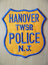 Patches: HANOVER TWSP. NEW JERSEY POLICE PATCH (New, approx. 4.6x4 inch)