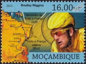 BRADLEY WIGGINS Tour de France Winner Bicycle/Cycling Stamp (2013 Mozambique)