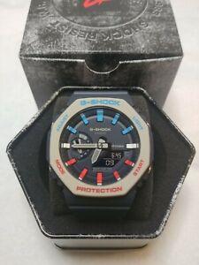 'Pepsi' Casio G-Shock Carbon CasiOak Custom Rare GA-2110ET-2A