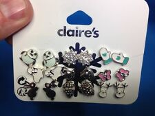 Nine Pairs Of Claire's Winter Holiday Christmas Moose Mittens More Earrings New!