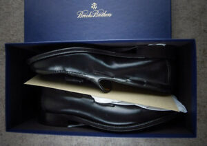 Brooks Brothers Shell Cordovan Shoes Loafer Tassel Mens 11.5B Black $798 New USA