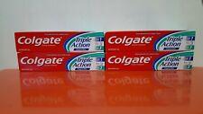 BNIB 4 COLGATE TRIPLE ACTION TOOTHPASTE 4OZ. TUBES