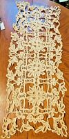 2 Items~Antique Table Runner & Doily~For Arts & Crafts~