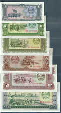 Laos 1 - 50000 Kip 13Pcs Set, 1979 / 1988-2004, UNC