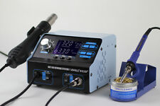FR-YIHUA 992D+ 2 IN 1 LCD SMD HOT AIR REWORK STATION WITH SOLDERING IRO NEW 220V