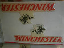 "Lot of 10 3-D Winchester Decals New in Package 4.5"" Stickers Gun Horse Cowboy"