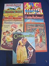 1950's Coloring Books Cinderella Little Red Riding Hood Mother Goose +++ 14x11