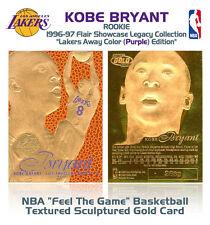 1996-97 KOBE BRYANT FEEL THE GAME Flair NBA Showcase Legacy GOLD ROOKIE Away
