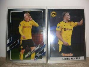2020-21 Topps Chrome Merlin Erling Haaland Lot of 2 Borussia Dortmund