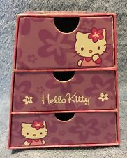 Hello Kitty 1976 2003 Sanrio Trinket Craft Chest Jewelry Box Storage Rare.