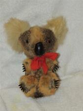 "Vintage Real Kangaroo ? Fur Koala Bear 7"" Plush Stuffed"