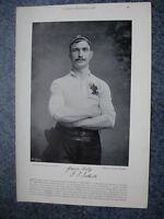 RARE Original Famous Footballers, #019 J.Toothill, Bradford & England 1895 - 96