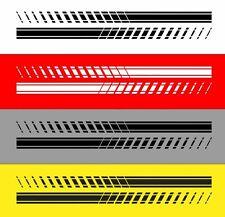 2x Motorsport Strisce Laterali Adesivo Racing Strisce Striscette Decorative Auto