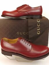 NIB GUCCI WINE SMOOTH LEATHER GOODYEAR LACE UP CLASSIC DRESS OXFORDS 8 9