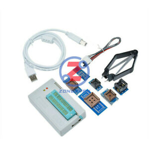 TL866II Plus Programmer EPROM FLASH BIOS 7 Adapters Socket Extractor R/TL866CS @
