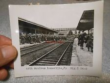 Vintage Ww Ii Photo Us Troops Arriving in Luneville France Train Station