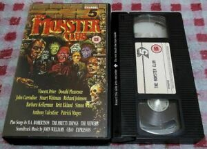 The Monster Club - VHS video - Vincent Price/Roy Ward Baker