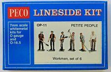 O Scale - PECO OP-11 LINESIDE KIT - Workmen, Set of 6 - Unpainted whitemetal KIT