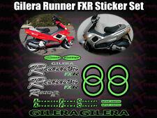 Gilera Runner  FXR Stickers Decals, Green & Black  AUTOCOLLANT ETICHETTA