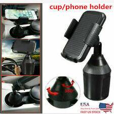 US Universal Car Mount Cup Holder Cradle Flexible Adjustable For iPhone Phone