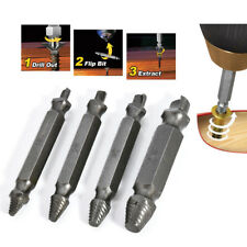 Damage Screw Remover Broken Bolt Extractor Drill Bits Easy Out Stud Reverse 4pcs