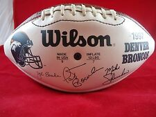 WILSON SIGNED BY DENVER BRONCOS FOOTBALL TEAM 1997 Replica FULL SIZE BALL