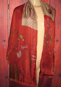 GUCCI FIRENZE WOMEN'S GORGEOUS SILK BLEND BUTTERFLIES SCARF SHAWL 27 x 77