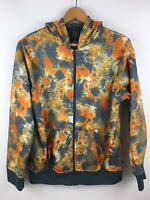 * NIKE * Kids Boys Orange/Gray Tie Dye Paint Splatter Zip Hoodie Jacket Size XL