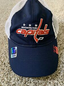 NWT Reebok Washington Capitals Hat Cap Stretch Fitted Mesh NHL Small/Medium