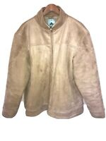 Burton Vintage Faux Suede Fur Lined Hooded Winter Jacket/Coat Size XL