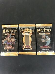 3x Harry Potter TCG Trading Cards Booster Pack Art Set - Adventure At Hogwarts