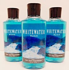3 BATH & BODY WORKS WHITEWATER RUSH 2 IN 1 HAIR + BODY WASH FOR MEN 10oz NEW!