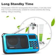 Digital FM Radio Stereo Empfänger MP3 Player USB TF Lautsprecher LED-Licht H4L5