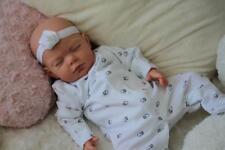 LOVELY REBORN LOTTY - BABY GIRL DOLL - PAINTED HAIR - NUBORNZ NURSERY