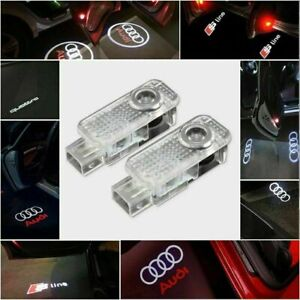 AUDI LED PROJECTOR CAR DOOR LIGHTS LOGO PUDDLE SHADOW LAMPS