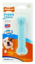 Nylabone 18214832393 Puppy Chew Teething Soft Bone Chicken Petite Blue