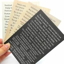 4pcs Words Stickers for Scrapbooking Projects Photo Album Card Making Crafts