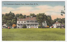 Funkhouser's Claymont Court Charles Town West Viriginia linen postcard