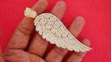 10 Carat Diamonds 60 Grams Solid Yellow Gold Angel Wing Huge Pendant ASAAR Video