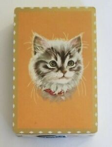 Sealed Deck - Vintage Playing Cards - Cat Face, Kitten, Red Collar