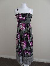 Womens Monsoon dress, size 8, green/floral print, silk