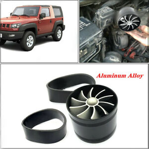 Car Air Intake Turbonator Single Fan Engine Gas Fuel Saver Turbine Charger Kit