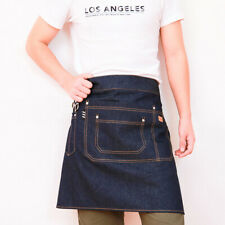 New Apron Half Length Denim Workwear Mens Tea Shop Coffee Bar Women Pinafore