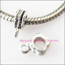 12Pcs Antiqued Silver Square Bail Bead Fit Bracelet Charms Connectors 8x11.5mm