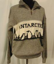 Norlender Knitwear Norway Sweater Womans Size M Antarctica Wool Penguins