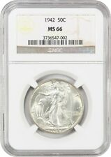1942 50c NGC MS66 - Walking Liberty Half Dollar