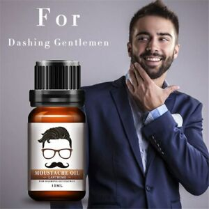 Beard Oil Moisturizes Facial Hair Moustache Pure Organic Growth Alopecia Serum