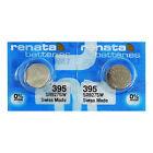 2 X Renata 395 Silberoxid Batterien 1.55V SR927W SR57 399 Uhr 0% Mercury